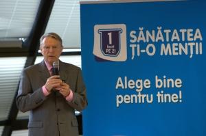 Lansare campanie 1 iaurt pe zi_Prof. Dr. Nicolae Hancu, Presedintele de Onoare al Federatiei Romane de Diabet, Nutritie si Boli Metabolice